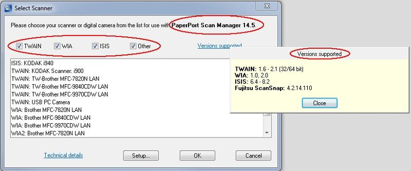 PP14.5 scanning drivers support