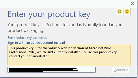 change product key visio premium 2010