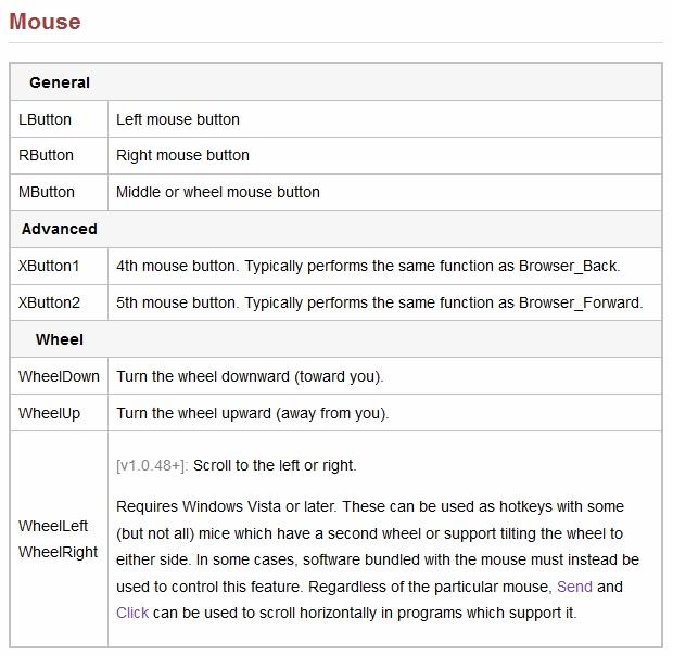AutoHotkey mouse buttons