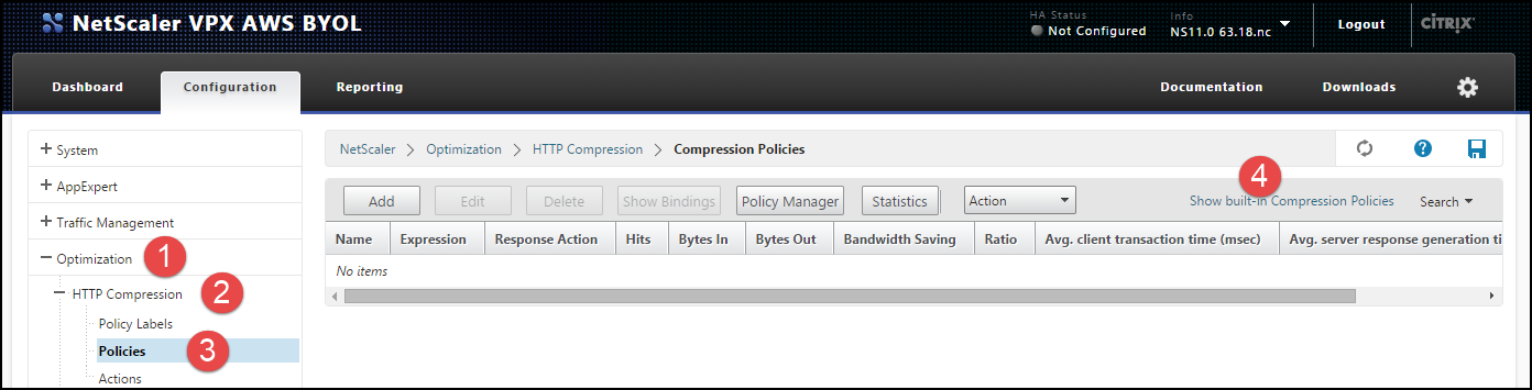 Citrix NetScaler HTTP Compression Feature