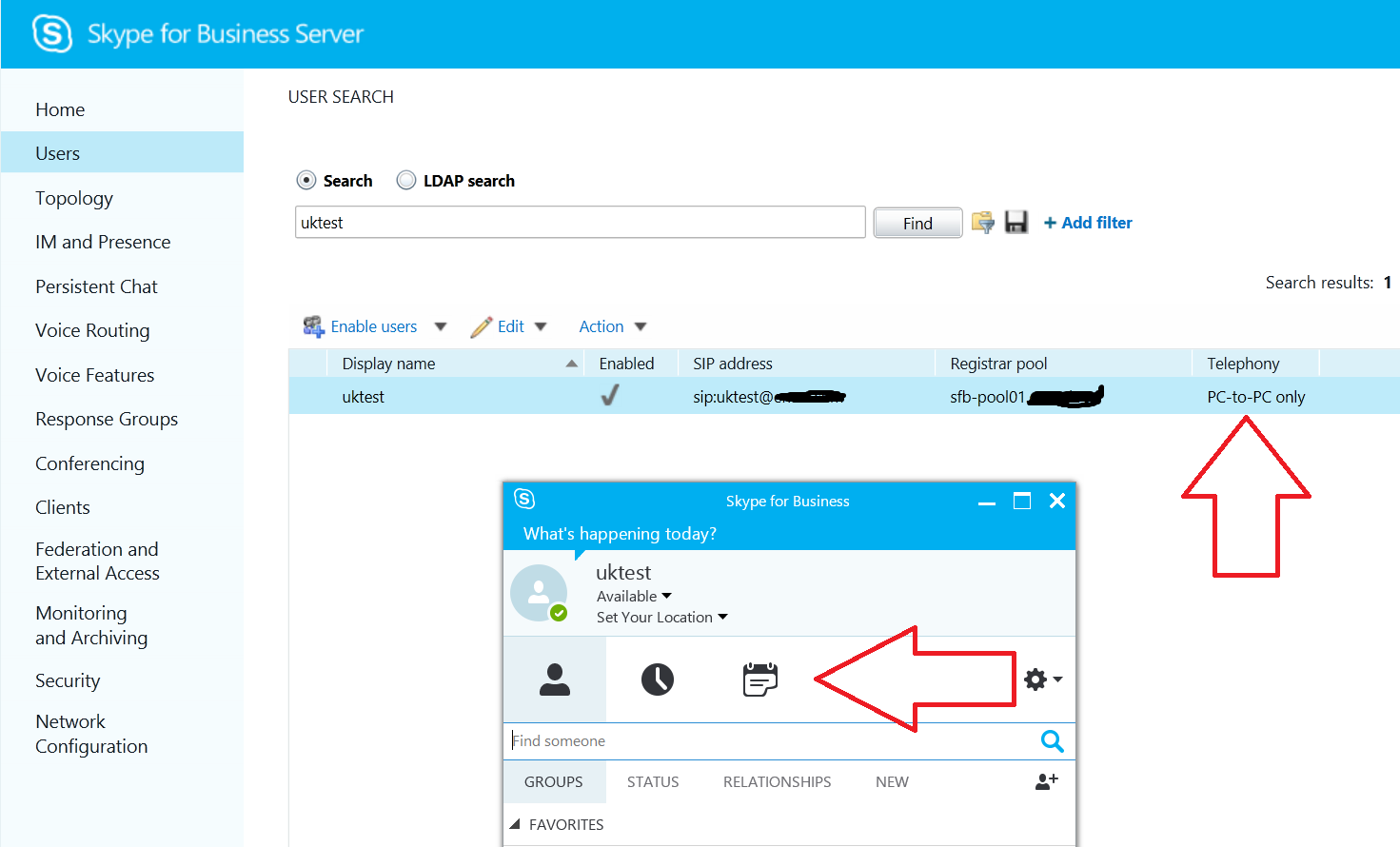 Skype for Business Client - disable or remove Phone Tab