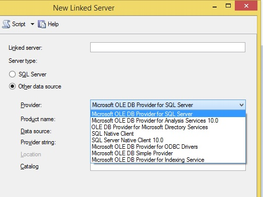 SOLUTION] linked server to ms access 2007/2010 from sql