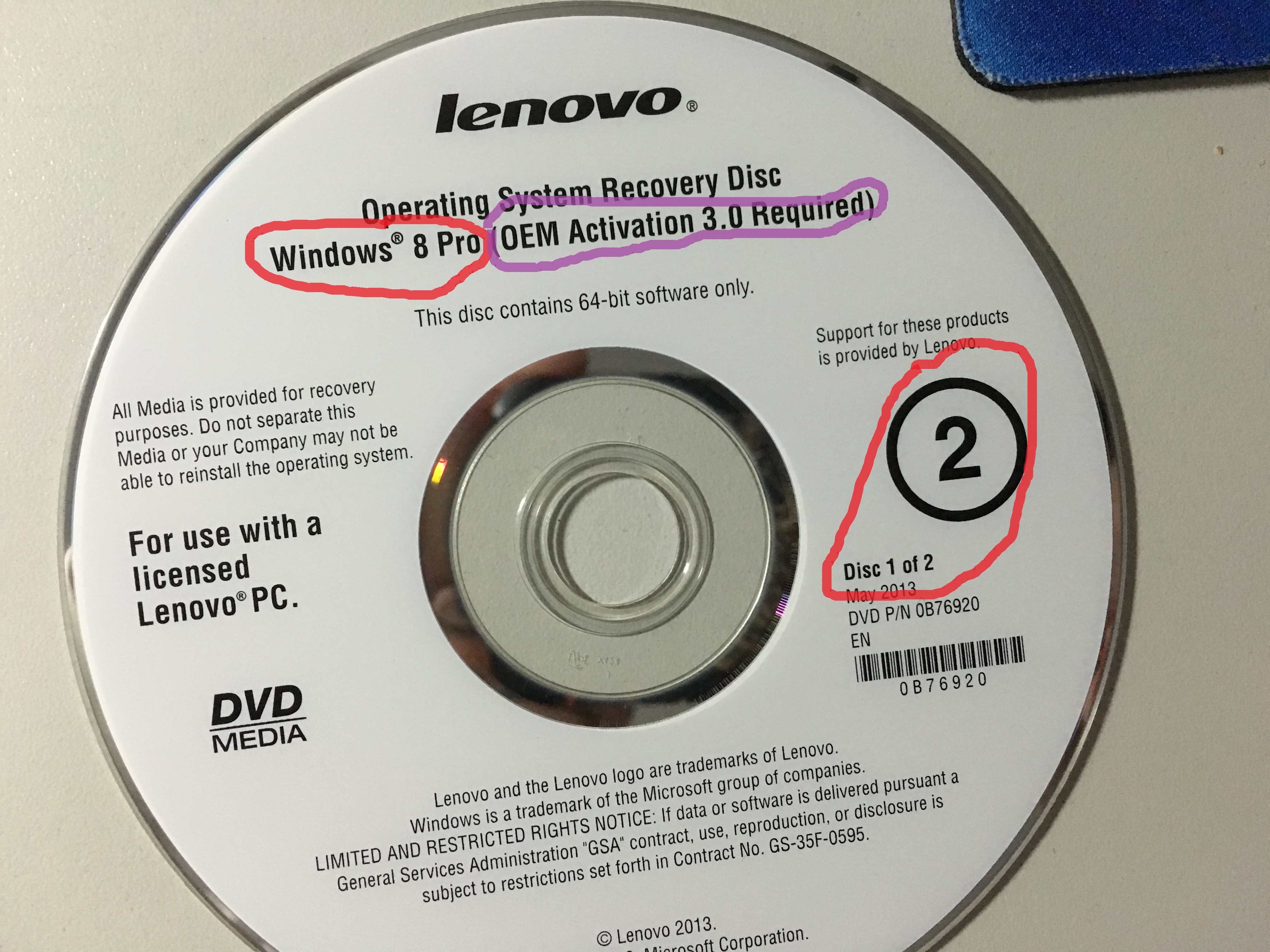 windows 7 recovery media lenovo