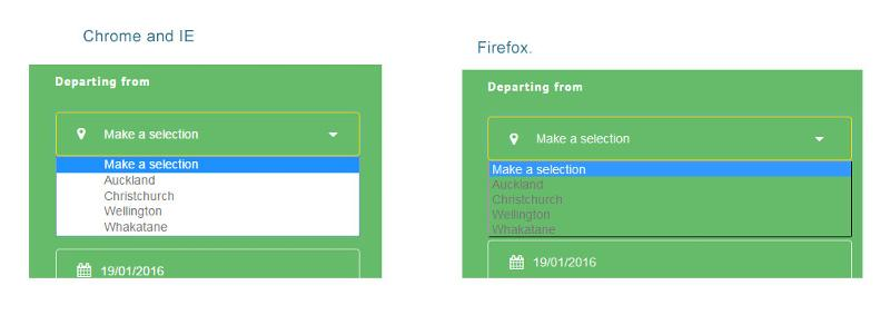 Diagram to compare how it should look on Chrome to how it looks on Firefox