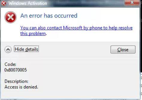slui.exe 3 access denied