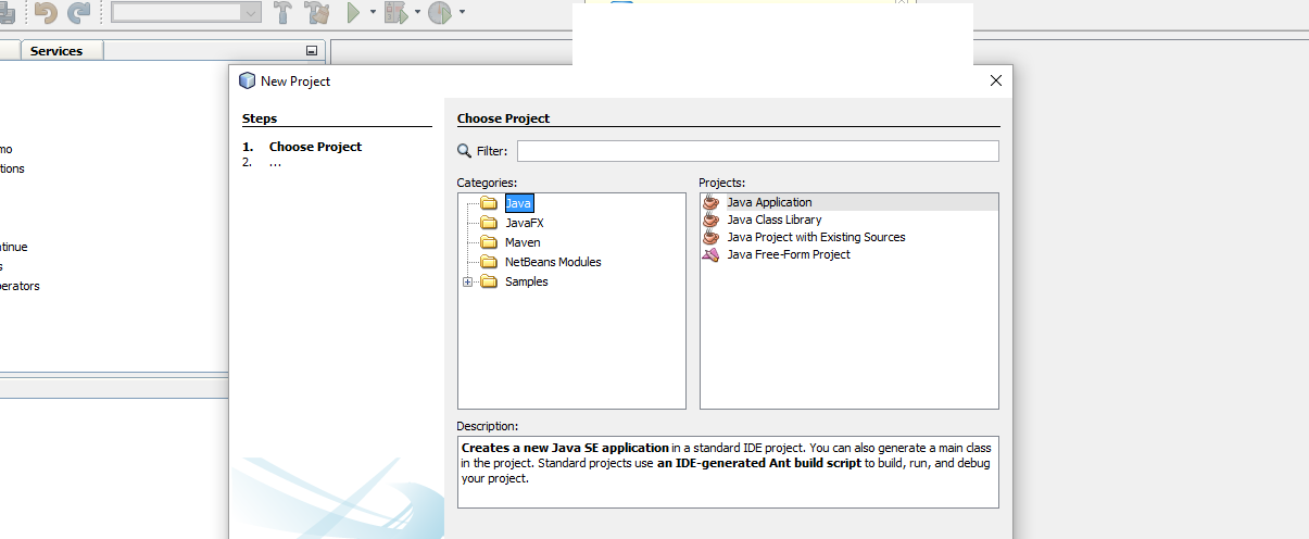 netbeans not showing web project