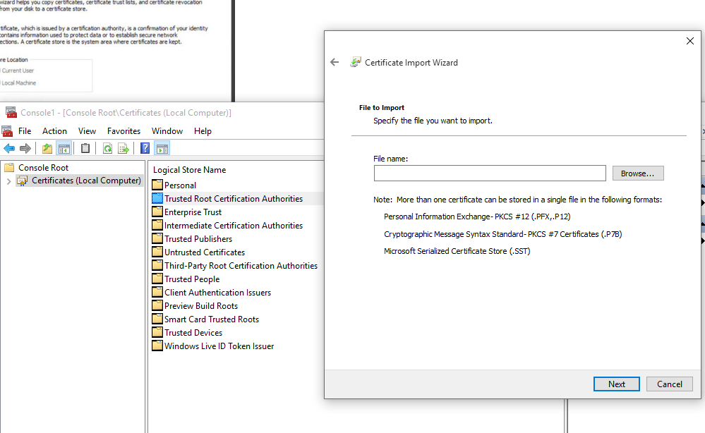 Vb Importing A Certificate