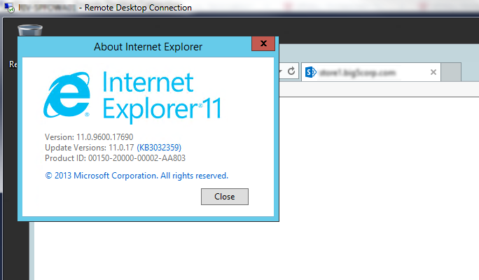 When accessing our Intranet Site in IE or Chrome, Windows Security