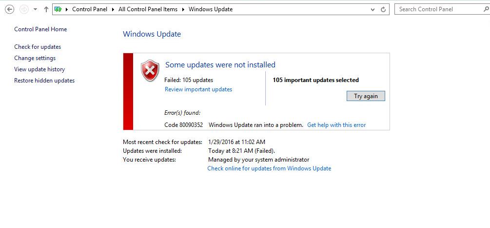Windows update failed 646 microsoft windows update does not work
