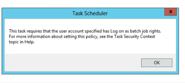 Batch file task scheduler right