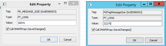 Outlook attachments copied using code show paperclip icon
