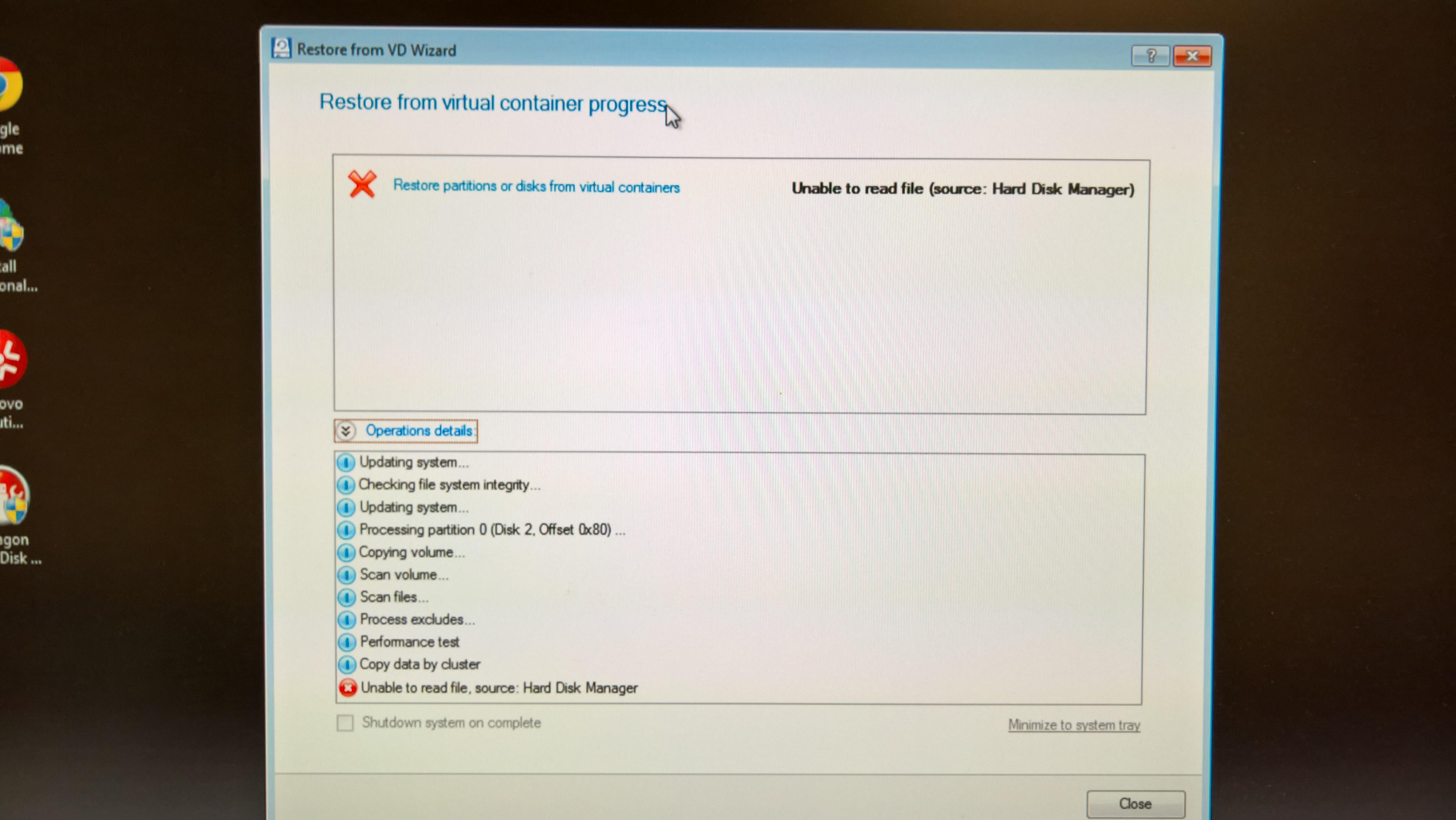 Windows Image Restore