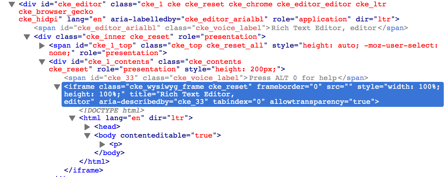 How to change css property of a class loaded inside an iframe