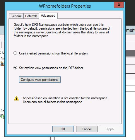 Folder Redirection not working with DFS path