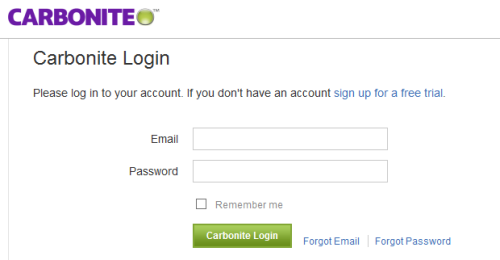 Carbonite login