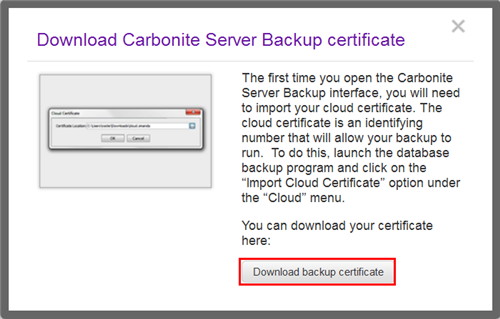 Downloading Certificate