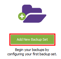 Add a new backup set