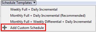 Add Custom Schedule