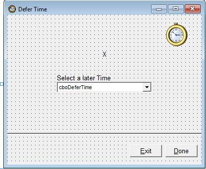defer time