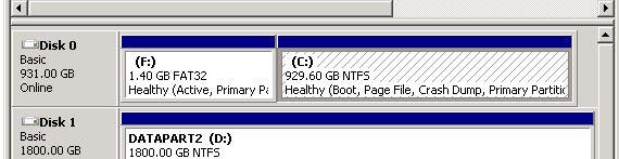 Disk Management Screenshot