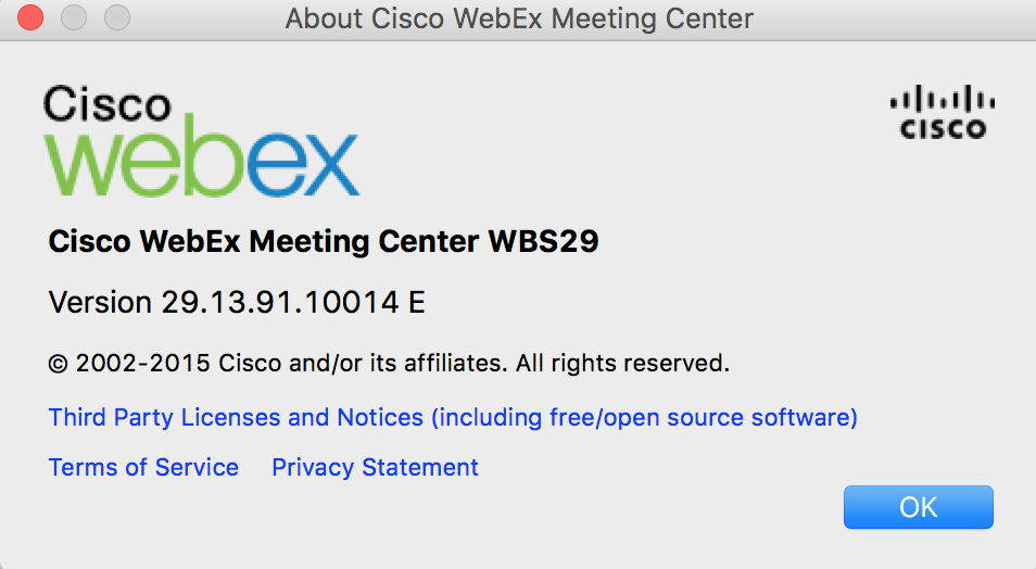 MAC only loads WebEX to 98% and hangs