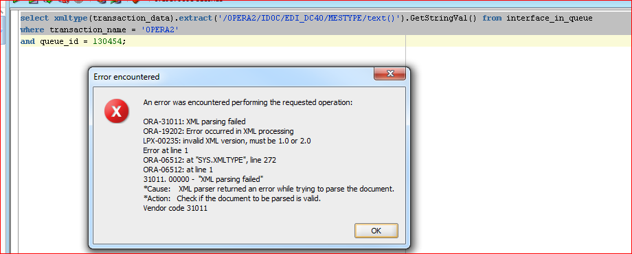 SQL select XML data in Oracle that is XML 1 1