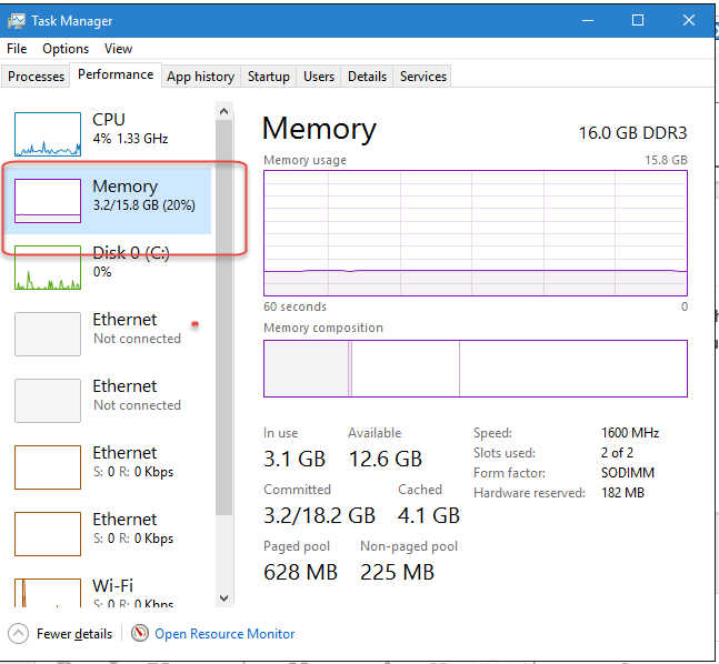 Windows-10-Memory-Usage