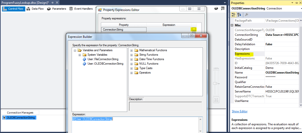 How to apply FUZZY algorithm in SSIS?