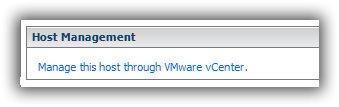vSphere client Status