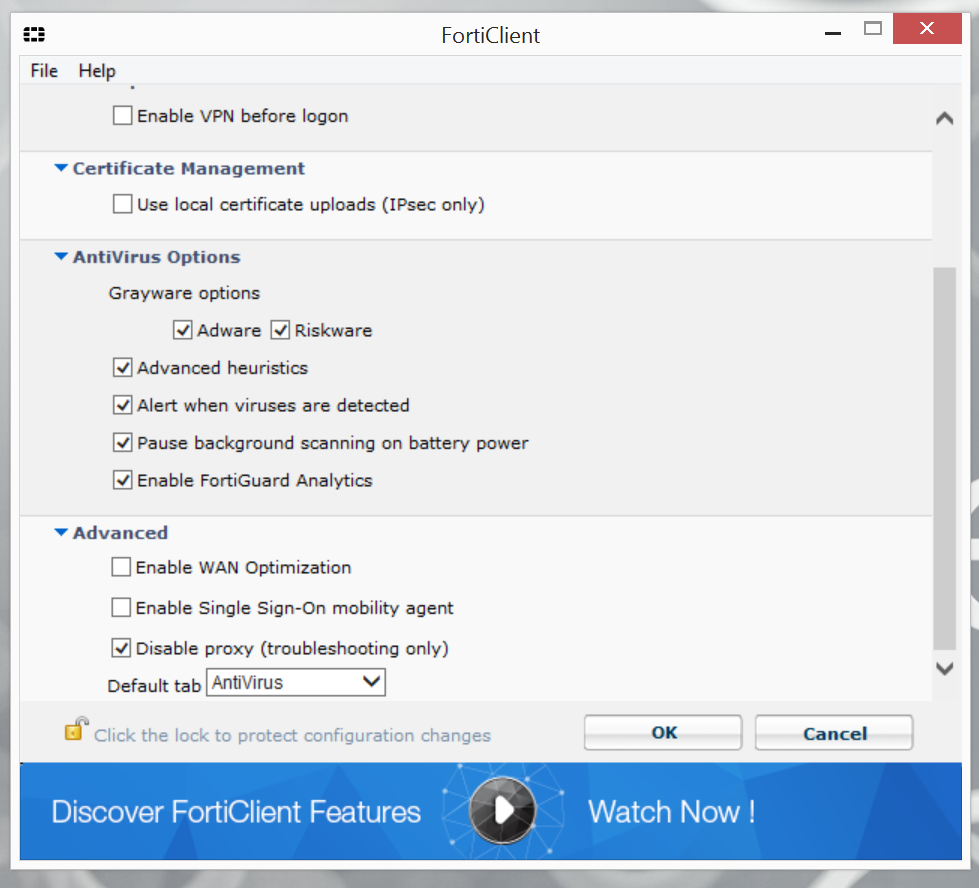 Why does this new Anti Virus version of FortiClient cause