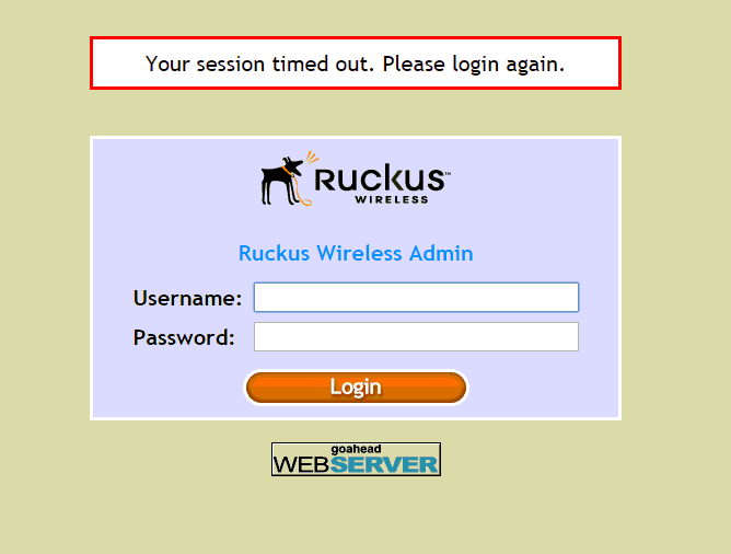 Cannot get into Ruckus access point