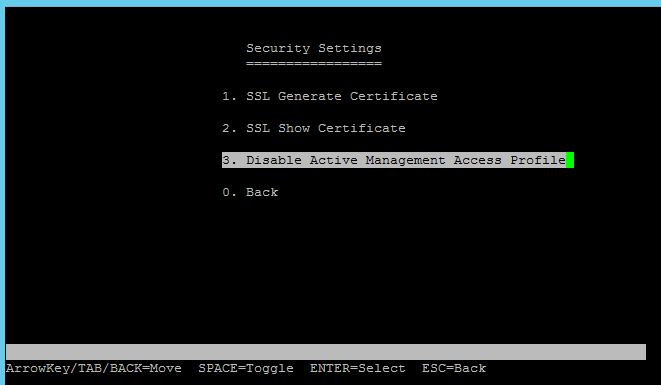 SGE2010P Security Settings