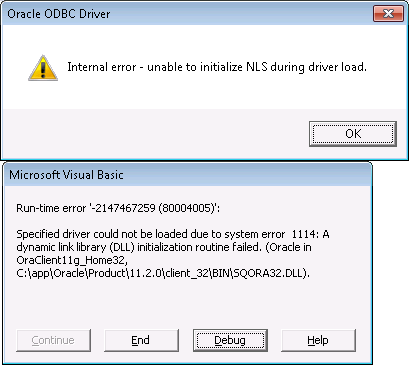 Odbc Error In Excel
