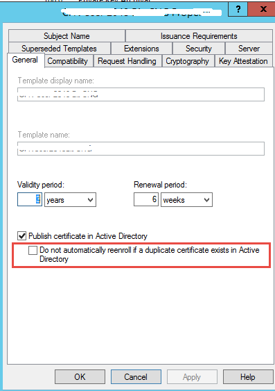 User certificate auto enrollment fails when certificate is to be template properties yelopaper Images