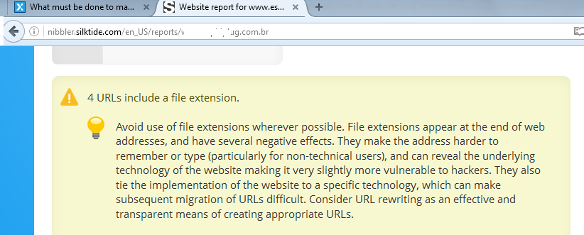SOLUTION] How to hide the  php extension in URL ?