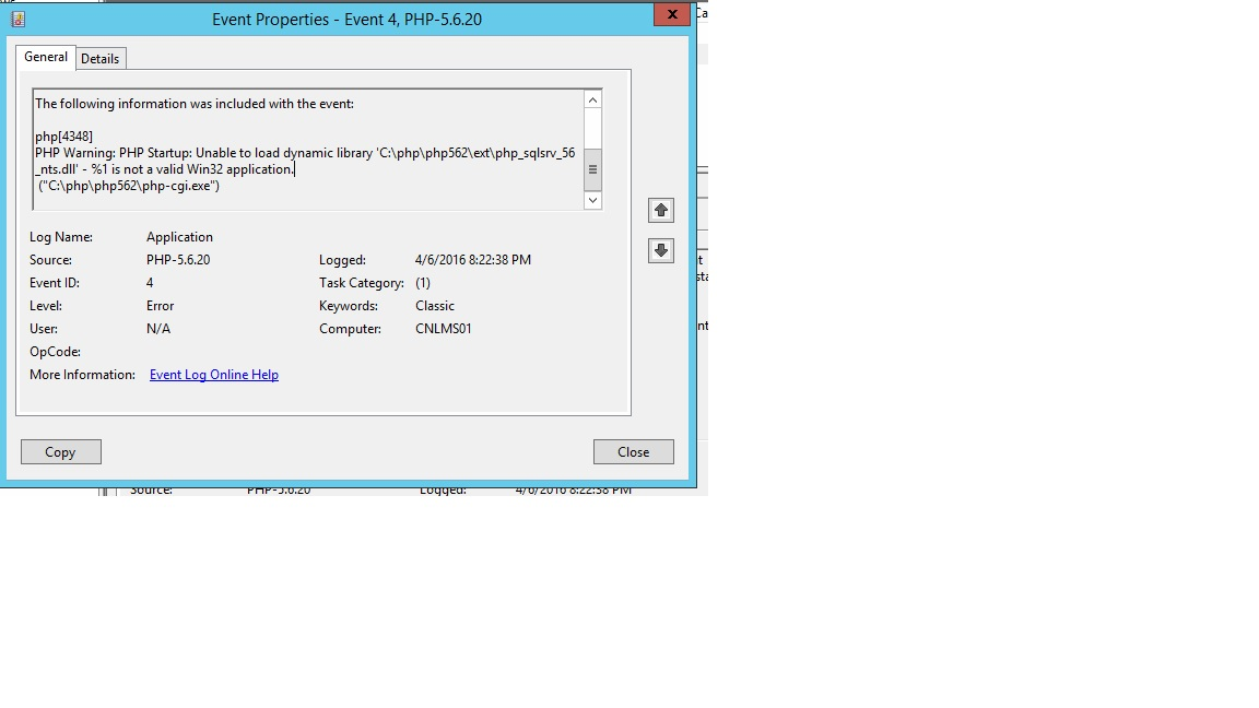 SOLUTION] IIS 8, PHP 5 6 2, SQL 2014 can't load SQL Drivers  Unable