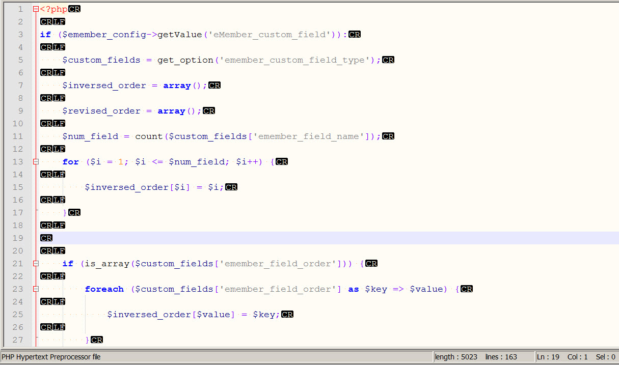 How to Force Consistent Line Break Characters in Notepad++
