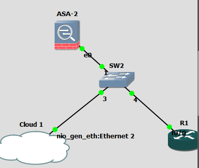 cannot ping inside interface in ASA in gns3 from a VPC