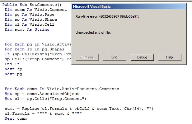 Shape reports in Visio 2013 is not providing overview of