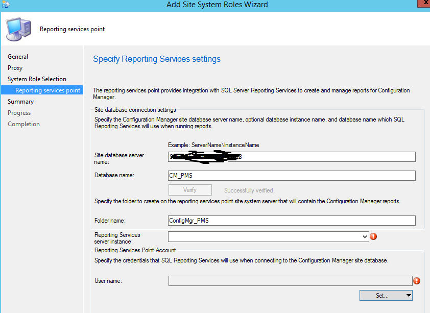 Sccm 2012 R2 Configure Reporting Service Point Reporting Service