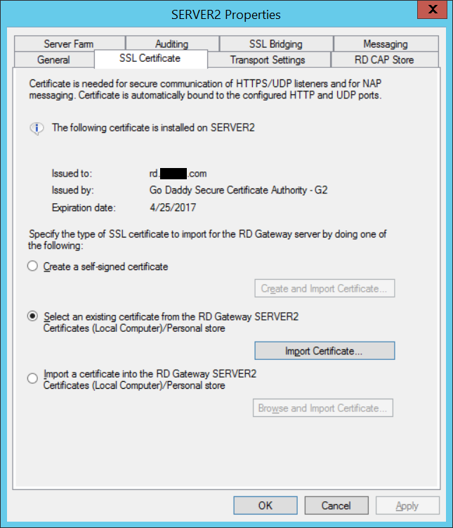 Wrong SSL Certificate on WIndows 7 Client Using RD Web