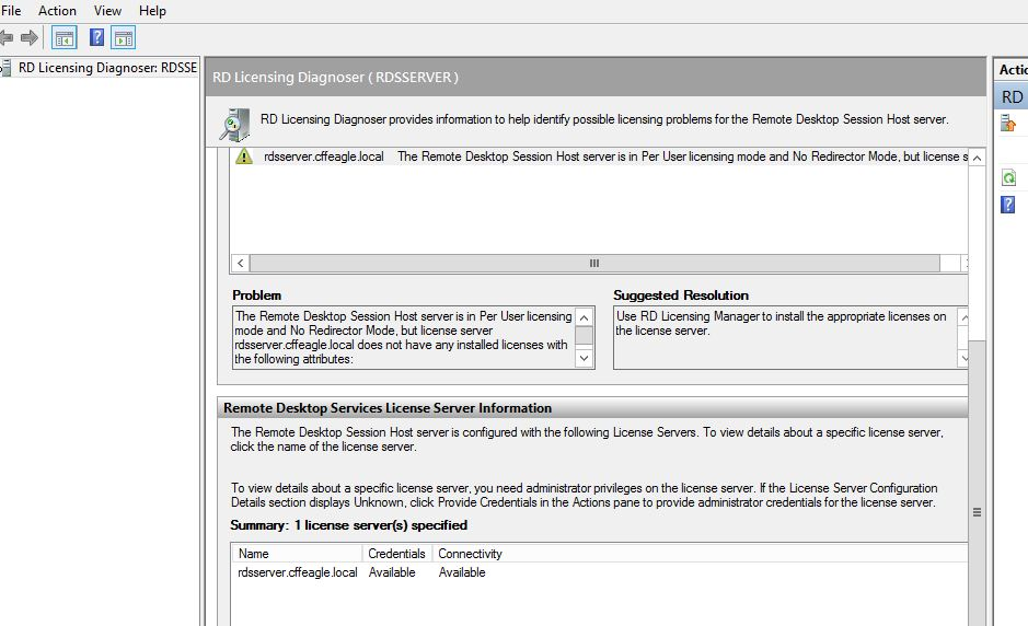 2012 Windows server RDS errors - not sure where to do with