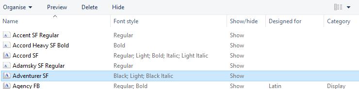 Font install problem