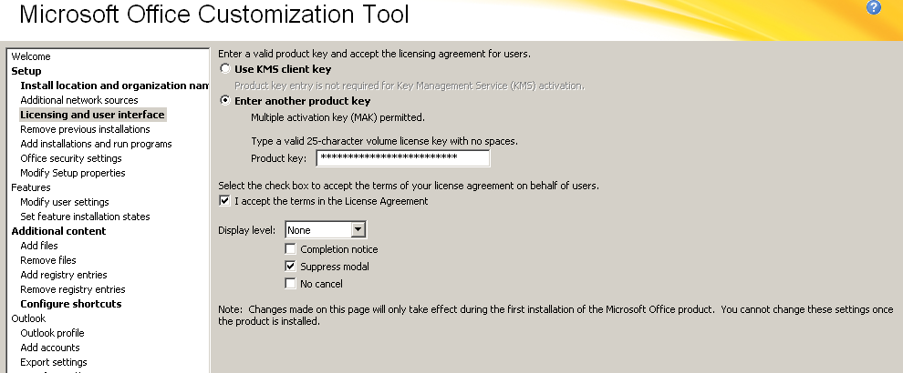 activate volume license office 2010