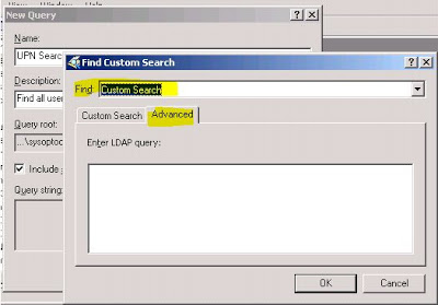 in the enter ldap query field paste this query string exactly as shown objectcategorypersonobjectclassuseruserprincipalname