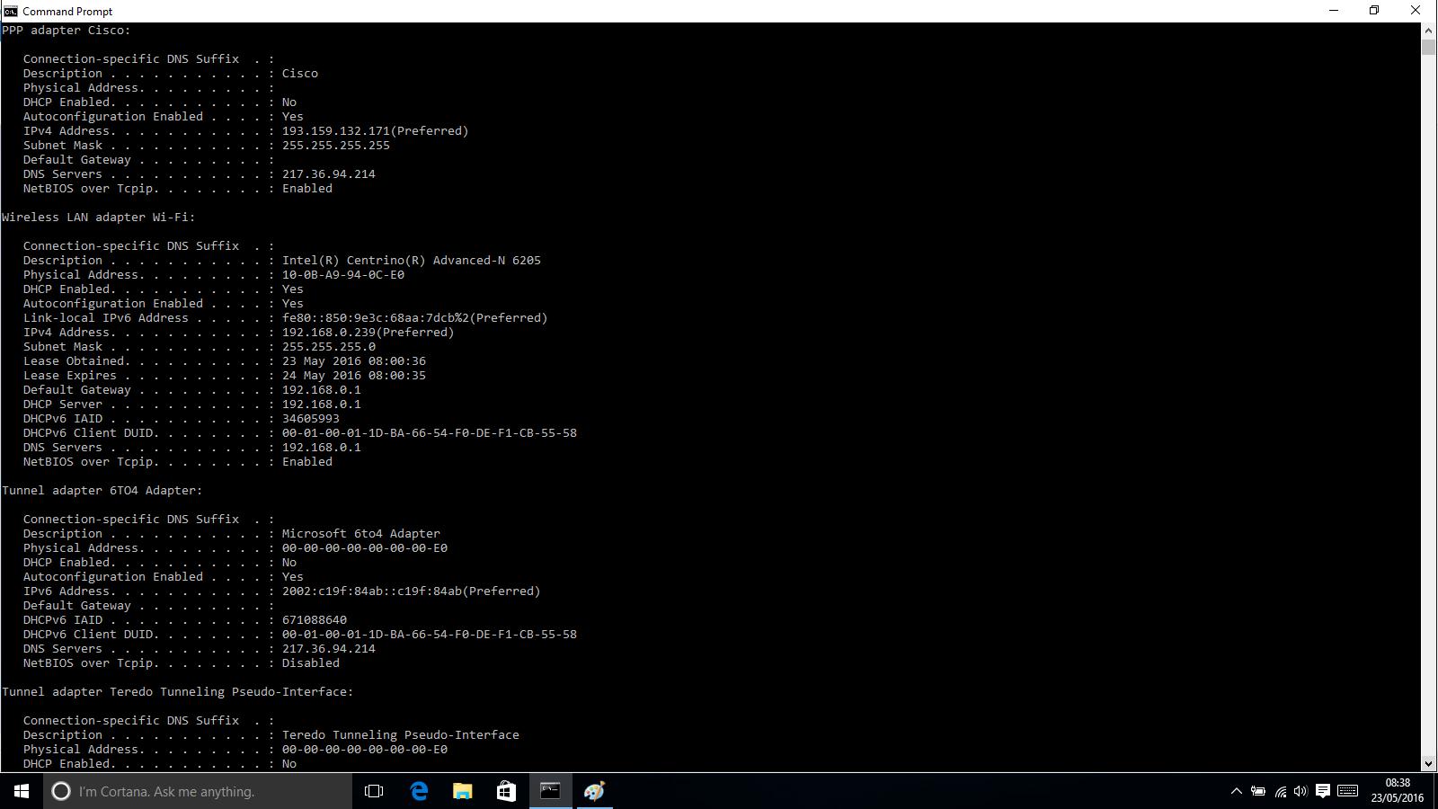Cisco 2800 PPTP VPN - Random IP's Won't Ping