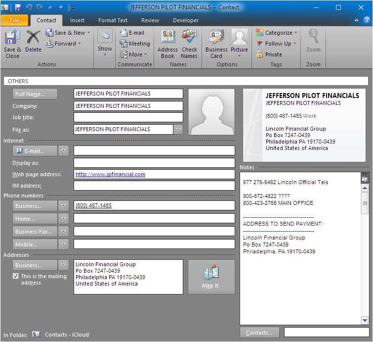 Instruction to open a Contact selected in a List Box in
