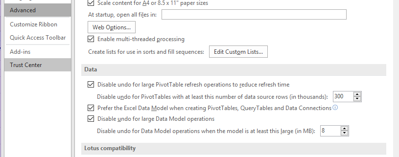 Power Pivot option not available in Excel
