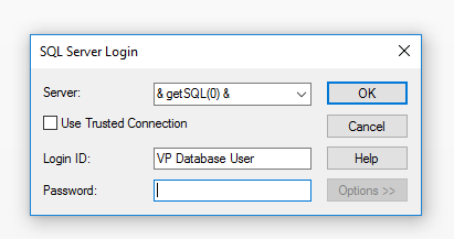 OCDB Connection string in Pass Through query