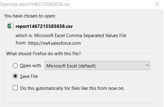 Excel  csv file - Need Save Dialog Box to provide